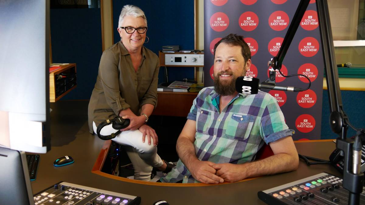 REGIONAL FOCUS: PM presenter Linda Mottram and Simon Lauder in the ABC South East studio. Photos: Supplied
