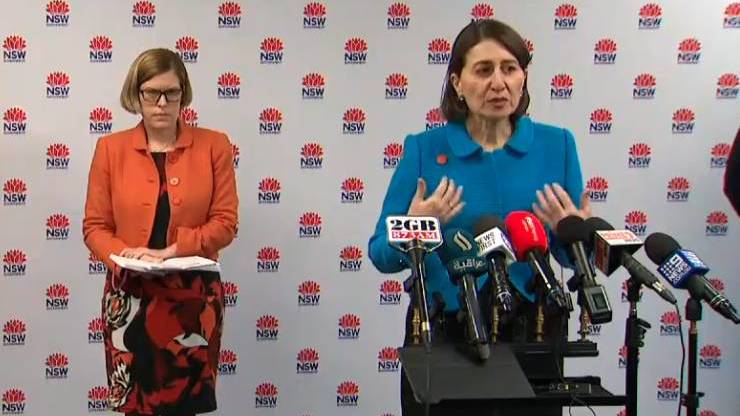 NSW Premier Gladys Berejiklian and the Chief Medical Officer Kerry Chant.