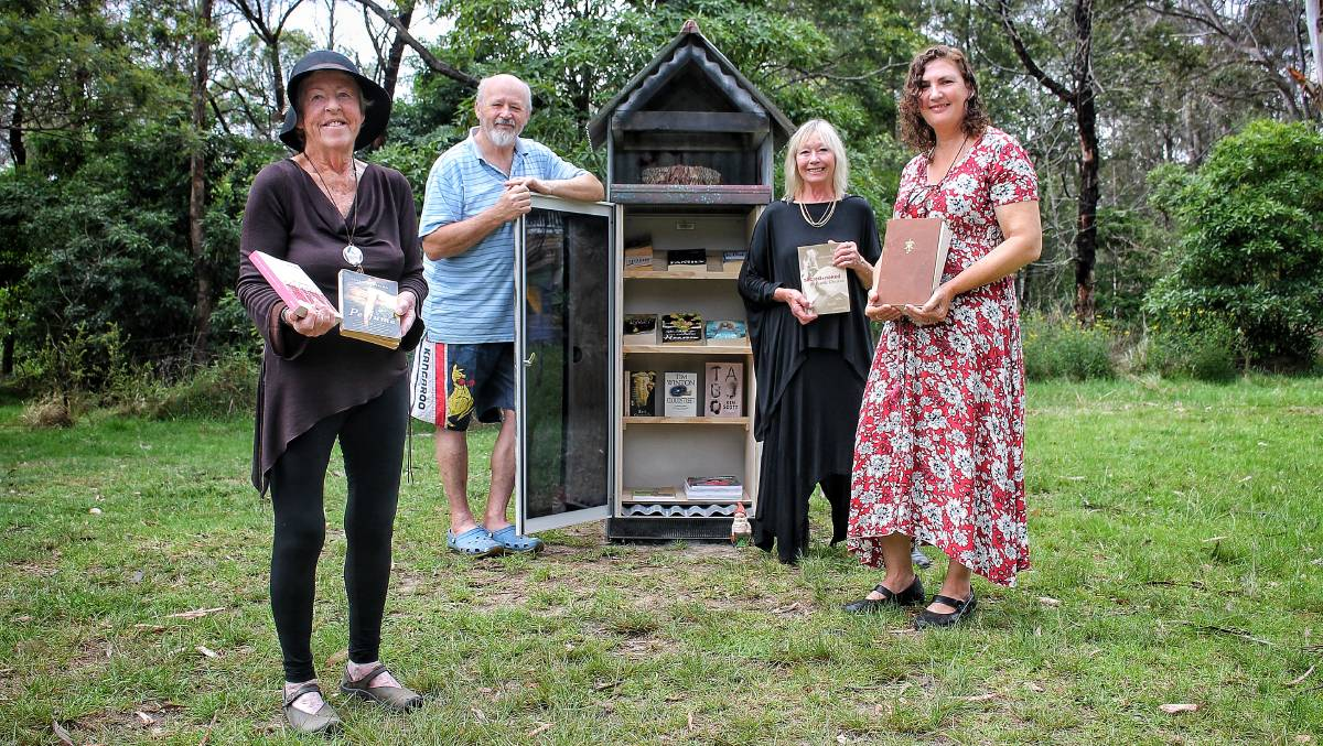 TOGETHER: Tanja's Angie Morris, Rod Rod Niemeier, Rosemary Lord and Linda Strom ahead of Saturday's launch of the Tanja Community Book Swap at 3pm. Picture: Alasdair McDonald