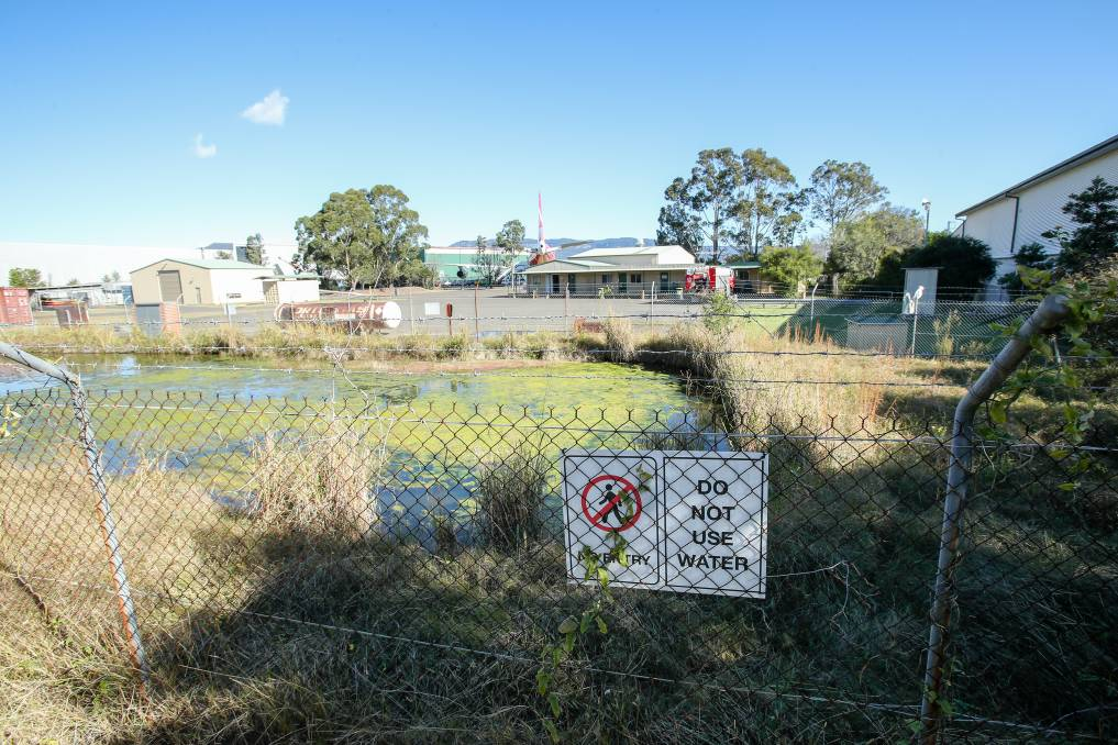 The training facility at Albion Park Rail that has high readings of PFAS chemicals. Picture: Adam McLean